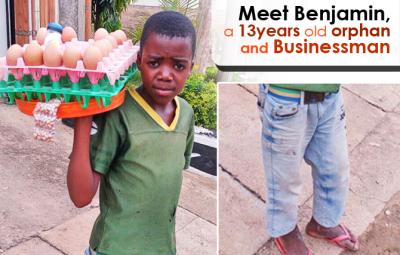 Benjamin : orphelin , 13ans et businessman ©Akeza.net