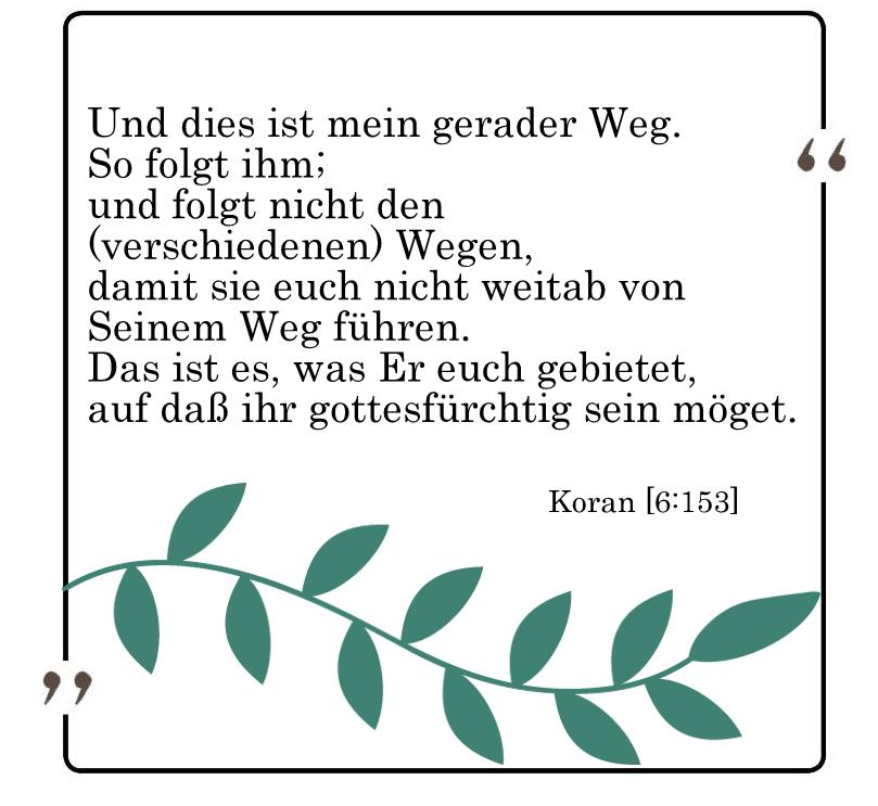 Koran 6:153