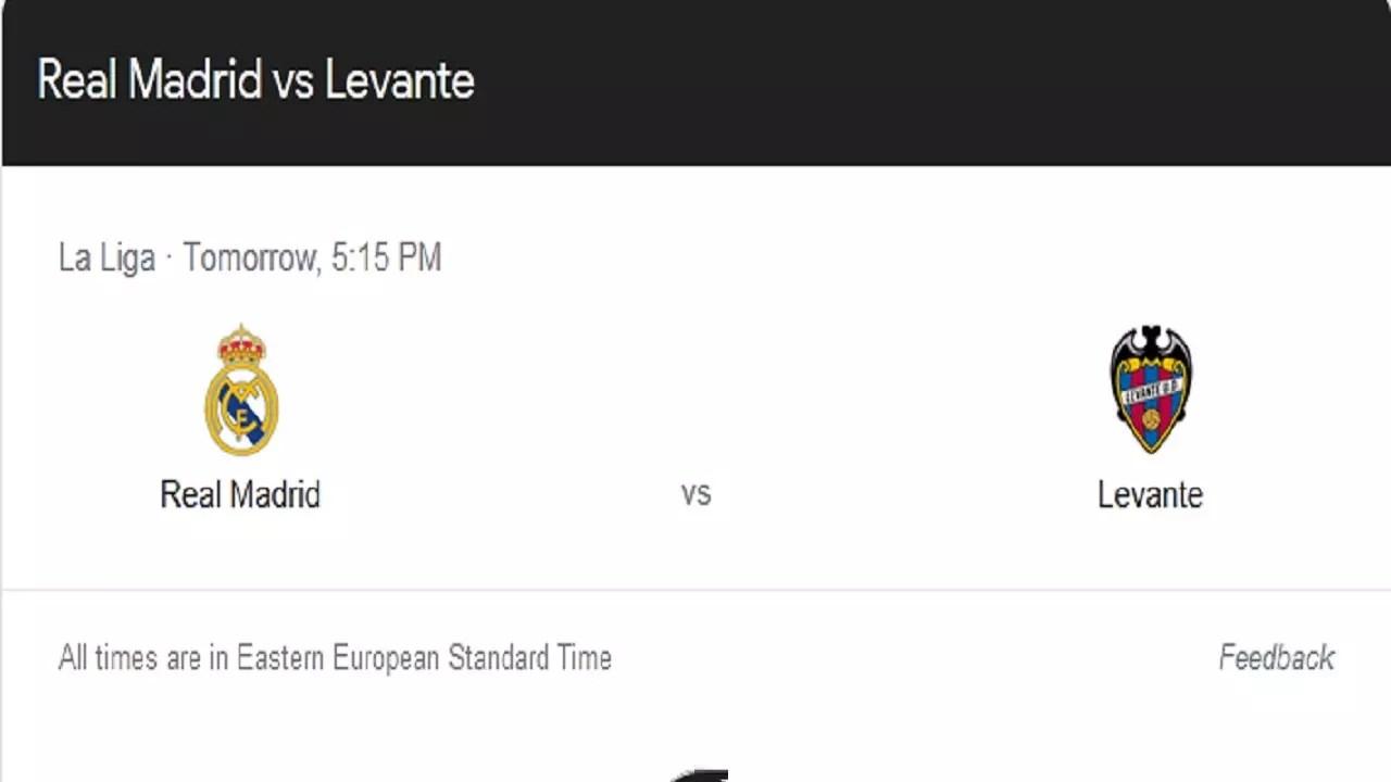 ريال مدريد ضد ليفانتي في الدوري الإسباني.. موعد المباراة وأهم القنوات الناقلة