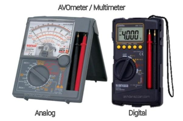Pengertian alat ukur listrik AVOmeter & Fungsi Avometer