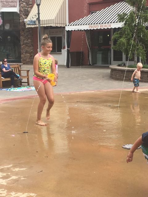 First Splash Pad of the Summer