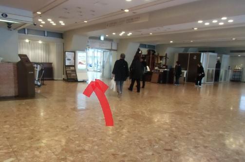 品川プリンスホテルメインタワーへ向かう