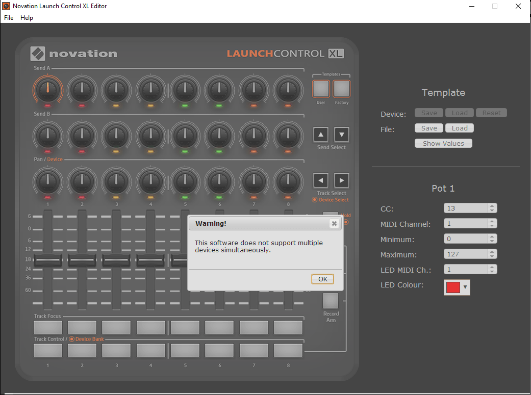 Novation- This Software does not support multiple devices simultaneously-Akiatech