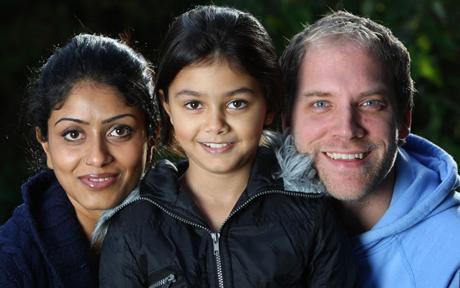 vegyes házasságban élő család