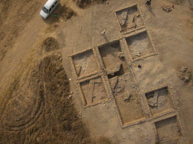 Az ásatás helyszíne