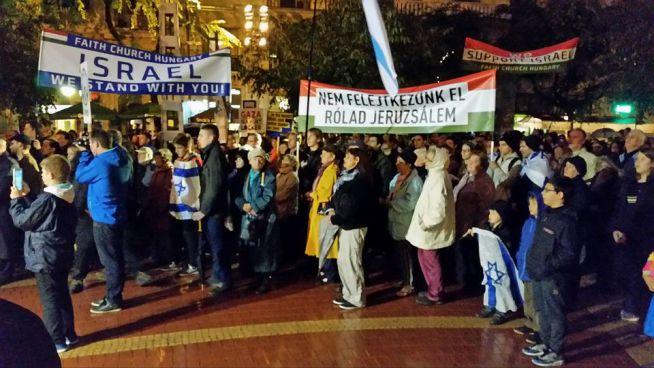 Demonstráció Izrael mellett
