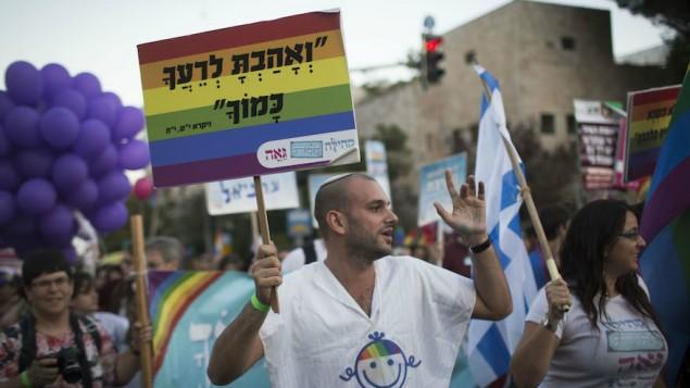 Pride felvonulás Jeruzsálemben