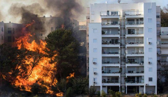 Tűz pusztít Haifán