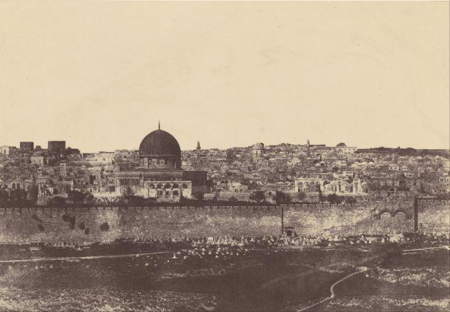 Fotó: Auguste Salzmann: Omár mecsetje és környéke, 1854