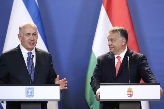 Benjámin Netanjahu izraeli és Orbán Viktor magyar miniszterelnök sajtótájékoztatót tart az Országházban (Fotó: Mohai Balázs/MTI)