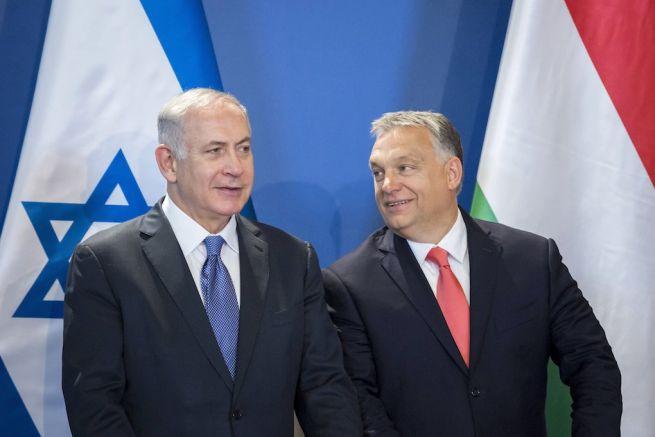 Benjámin Netanjahu izraeli és Orbán Viktor magyar miniszterelnök sajtótájékoztatót tart az Országházban (Fotó: Mohai Baláz/MTI)s