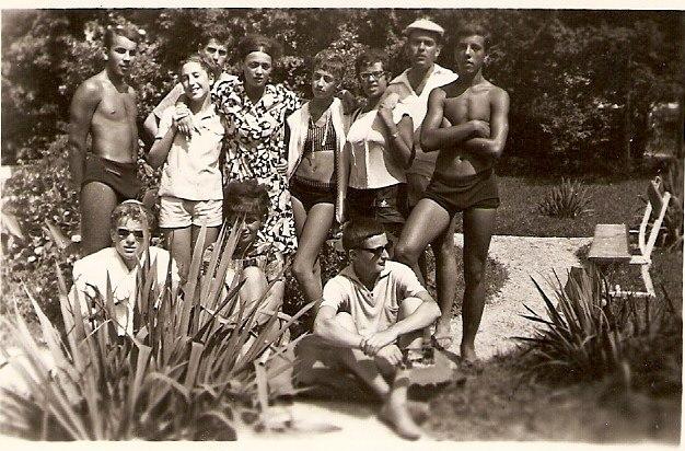Balatonfüred, 1963. Zsidó fiatalok.