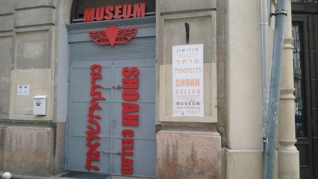 A Shoah Cellar bejárata, Wesselényi utca 9.