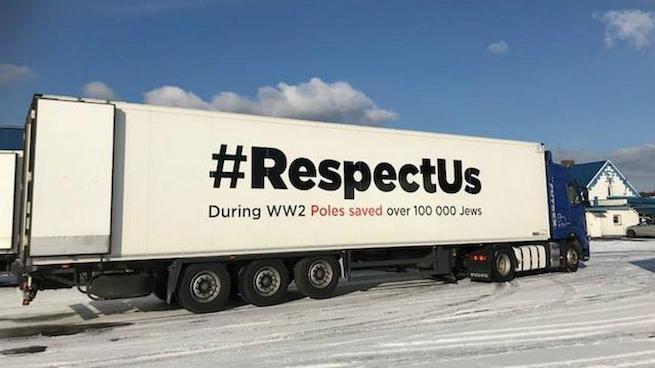 Az egyik, kampányban résztvevő kamion