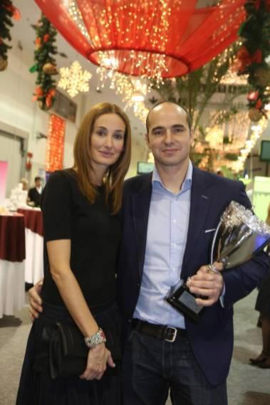 Feleségével az Év sportolója gálán 2013-ban / Fotó: RAS Archiv