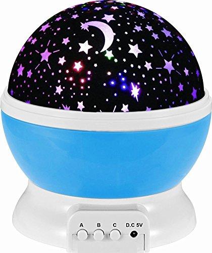 HJIAN LED Night Light Projector Lamp 3 Models Light Kids Bedroom Childrens Room Romantic