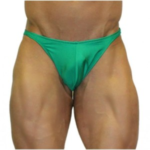Akieistro® Men's Professional Bodybuilding Posing Suit – Solid Kelly Bright Green – Front View