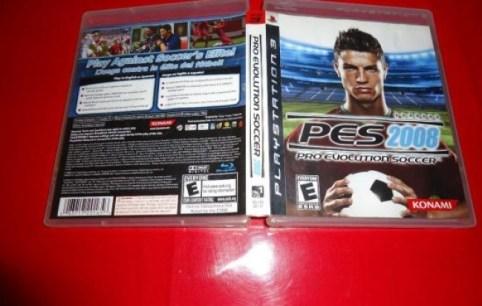 Caja de PES 2008 para PS3