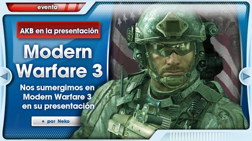 Presentación Modern Warfare 3