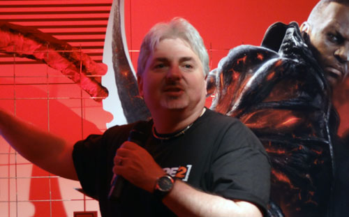Dave Fraccia en la presentación de Prototype 2