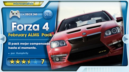 Forza Motorsport 4 February ALMS Pack Análisis