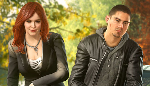 Christina Hendrix y Sean Faris en Need for Speed: The Run