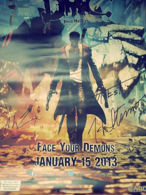 Poster firmado por los productores de DMC