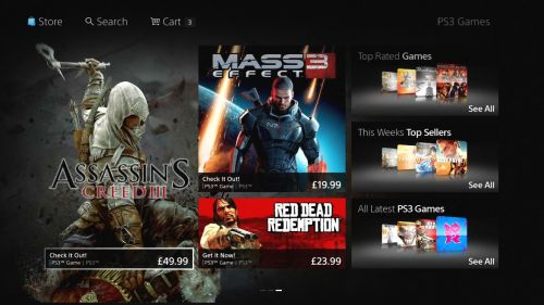 Playstation Store estrena interfaz