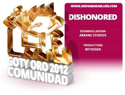 Dishonored es el GOTY 2012 para la Comunidad de AKB