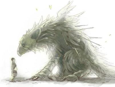 Arte de The Last Guardian titulado