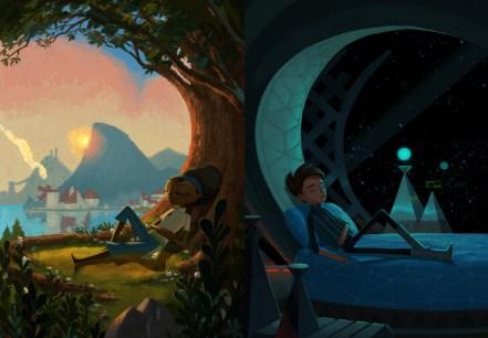 Dos personajes de mundos diferentes, conectados misteriosamente. No será un GOTY pero me pica la curiosidad.