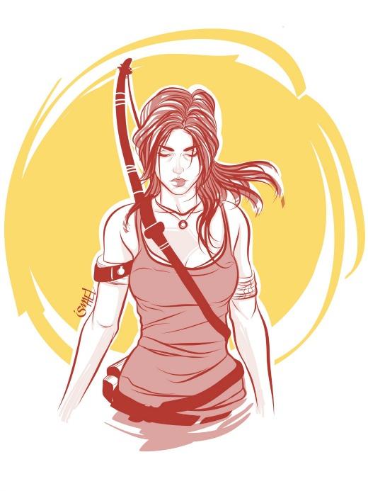 Lara Croft, por Ismael Álvarez