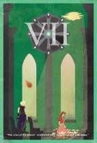 FFVII Minimalist Poster