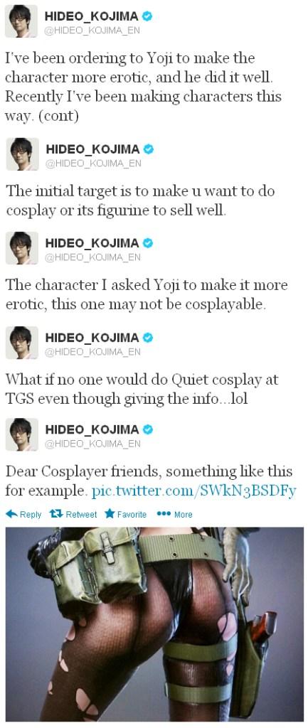 Kojima sobre el personaje de Quiet de MGS V