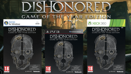 Dishonored GOTY carátulas