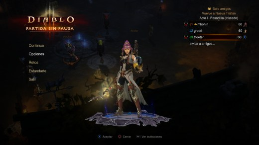 Diablo 3 seleccion personaje