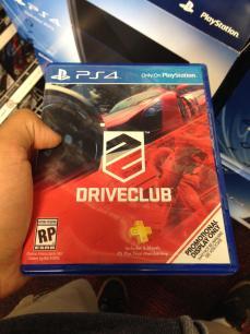 Caja de DriveClub para PS4