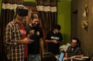 Teksait probando Oculus Rift en la Campblogger