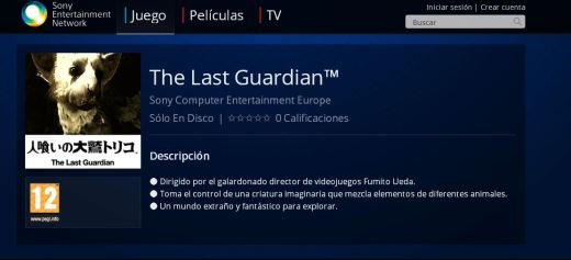 The LAst Guardian PS3