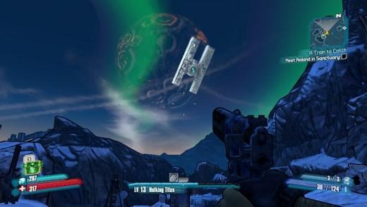 Base de Hyperion en órbita con Pandora
