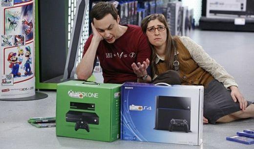 Sheldon escogiendo entre PS4 y Xbox One