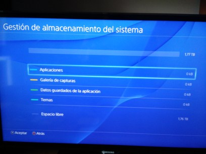 Almacenamiento PS4