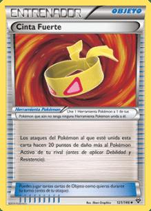 Carta Cinta Fuerte Pokémon