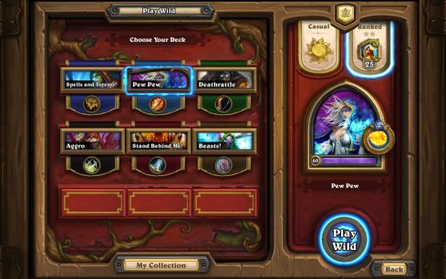 HearthStone Heroes Of Warcraft Modo Salvaje