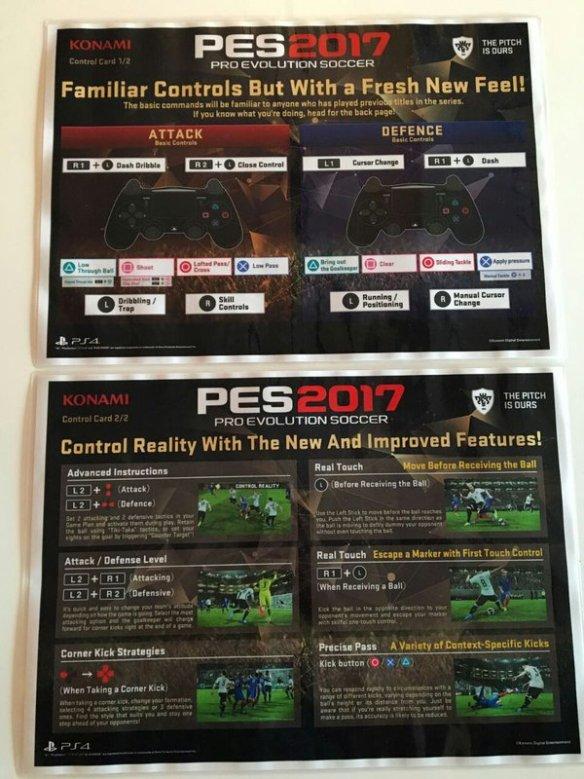 PES 2017 controles