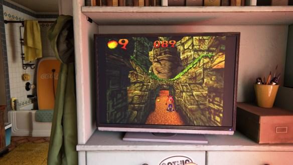 Aquí una imagen del Crash Bandicoot que está jugable dentro de Uncharted 4
