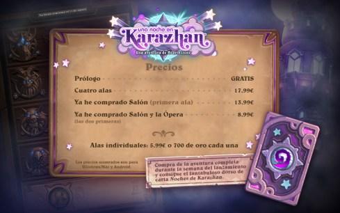 HearthStone Precios Karazhan