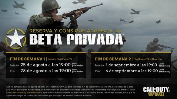 Los detalles del trailer Call of Duty WWII multijugador beta privada