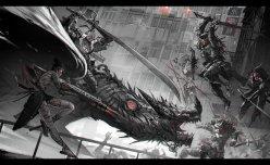 ¿Ninjas a los lomos de dragones luchando contra zombies? SOLD