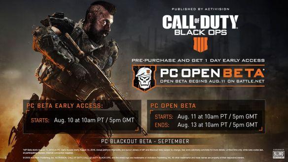 Todo lo que debes saber sobre la beta de COD Black Ops 4